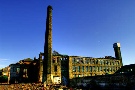 disused: Rundown mill in Bradford, West Yorkshire, England
