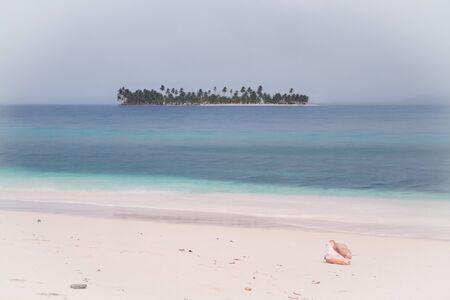 island in san blas panama Stock Photo