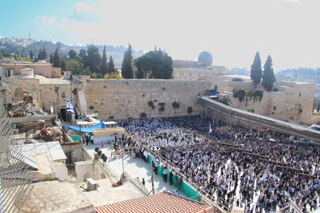 Priestly Blessing at Western Wall