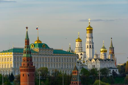 The Moscow Kremlin. View from the river on a sunny day