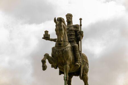 David the builder equestrian statue in Kutaisi, Georgia