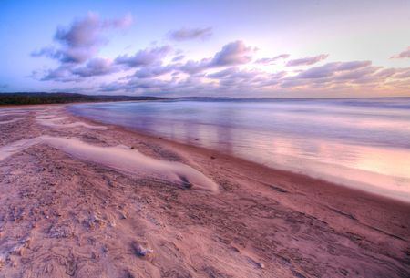 early in the morning in paradise, the beaches of Morrongulo, Mozambique,  photo