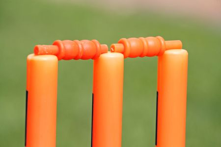 plastic garden portable cricket wickets with bails for kids and adults