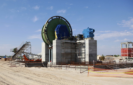 seperation: A photo of an incomplete diamond mine washing and seperation plant