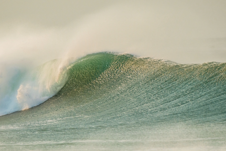 A stunning picture of a wave rolling