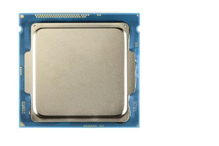 harddisc: Modern eight or four-core processor on light bacgkround