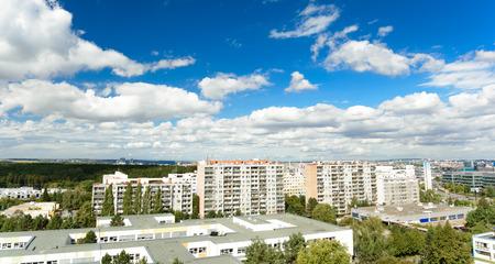 urban housing: urban development - housing estate of prefabricated houses