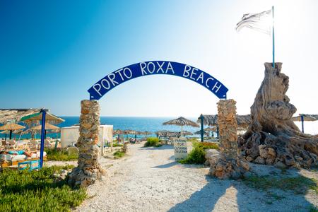 Porto Roxa Beach, entrance, Zakynthos Island, Greece