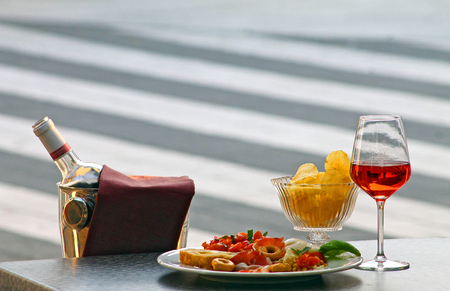 Italian style aperitif and cocktail
