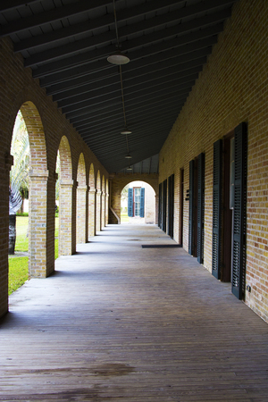 Corridor on the College Campus in Brownsville, Texas