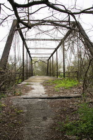 Old Abandoned Truss Bridge in Northern San Antonio, Texas Stock fotó