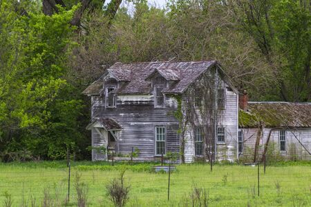 Rustic Old Farm House in the Flint Hills of Kansas