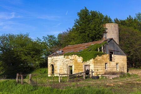Overgrown Barn in the Flinthills of Kansas