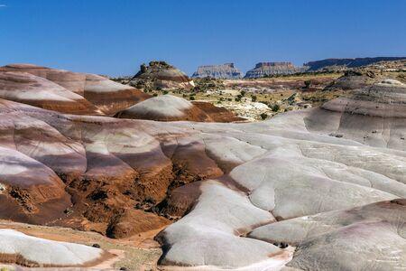 Bentonite Hills in Cathedral Valley, Capital Reef National Park, Utah. Stock fotó