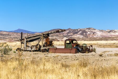 Old Water Drilling Rig in Capital Reef National Park, Utah