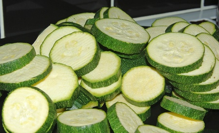 courgettes: Chopped courgettes