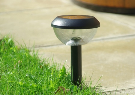 Solar garden light Stock Photo
