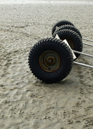 trailer wheels on beach