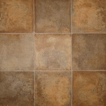 Tile effect vinyl flooring