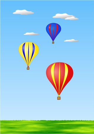 Hot air balloons illustration illustration