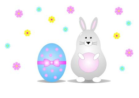 christian festival: Easter bunny and egg