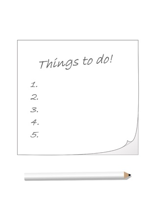 organise: Notepad and pencil with to do list
