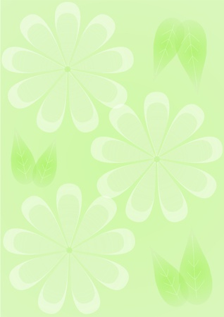 Green flowers background Stock Photo