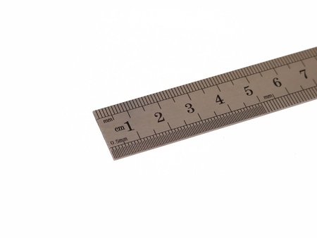 Ruler on white