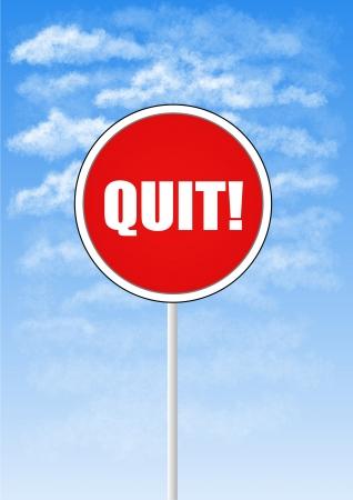 quit: Quit sign