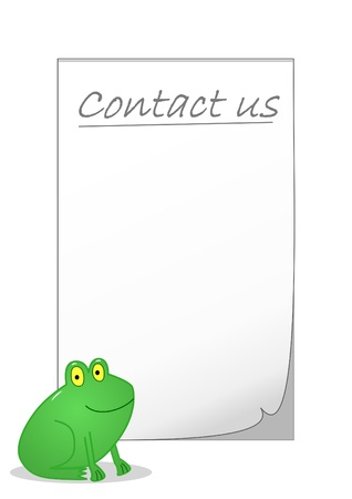 Contact us notepaper photo