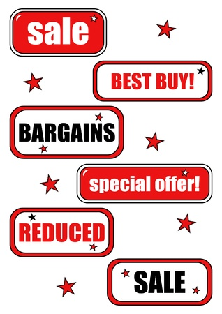 Sale and bargain offer labels Illustration