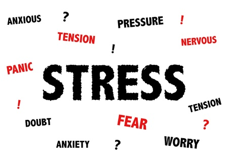 tense: Stress and anxiety illustration