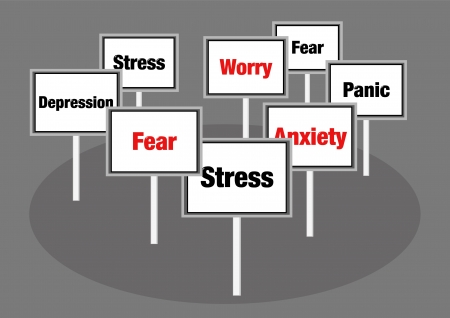 Stress and anxiety signs photo