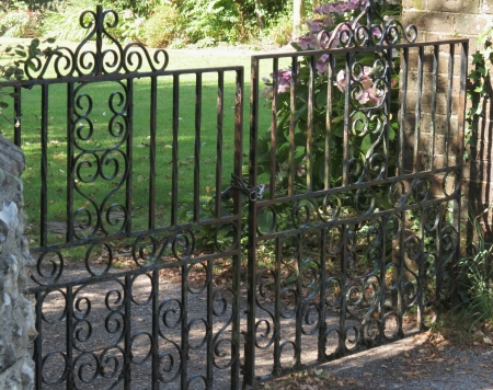 Wrought iron gate photo