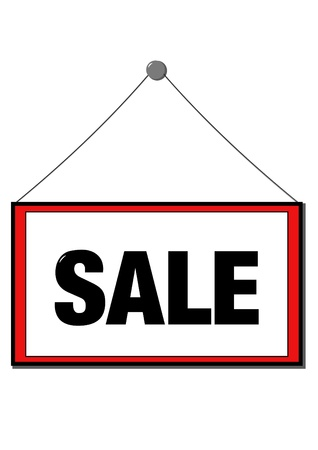 sell out: Sale sign
