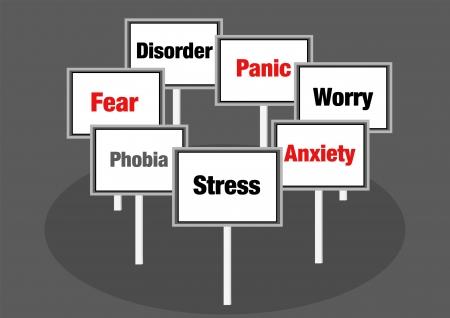 panique: Le stress et l'illustration phobie Illustration