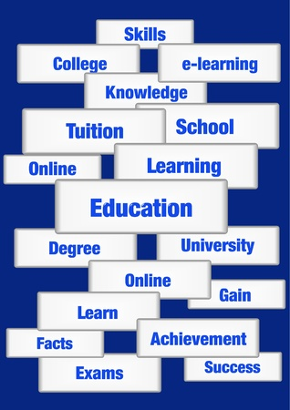 Education concept words Stock Photo