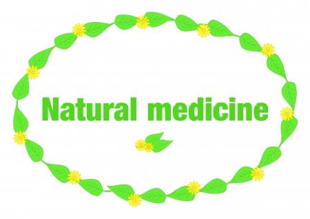 naturmedizin: Nat�rliche Medizin Illustration