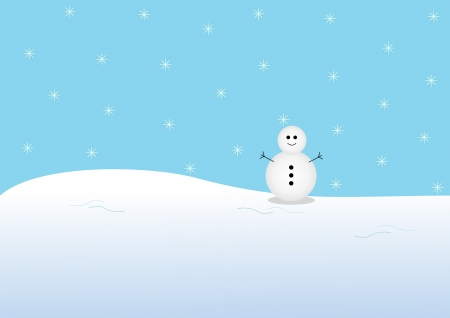 Snowman and snow Stock Photo