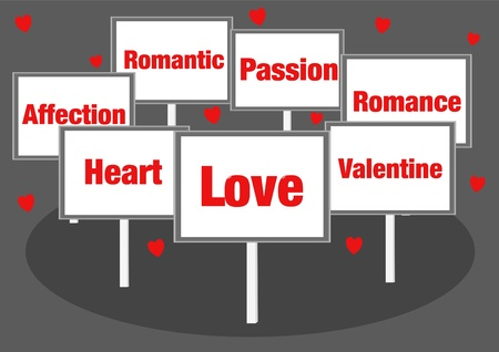 Love valentine signs Stock Photo - 17570904