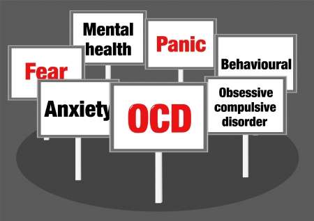 cognitive: OCD signs Stock Photo