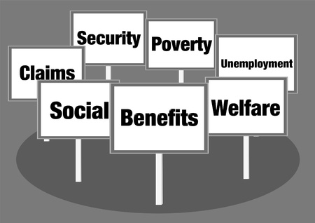 welfare: Benefits and welfare signs