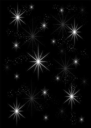 Background stars on black Stock Photo