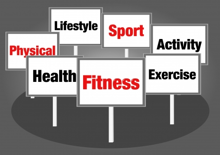 health and fitness signs photo