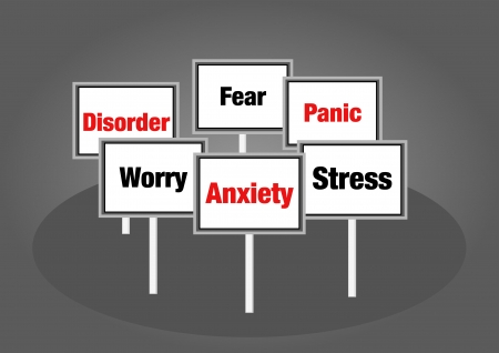 Anxiety signs Stock Photo