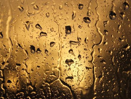 Water raindrops on glass Stock Photo