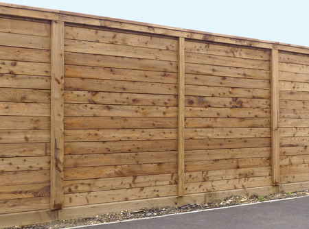 home garden: Wooden fence panel