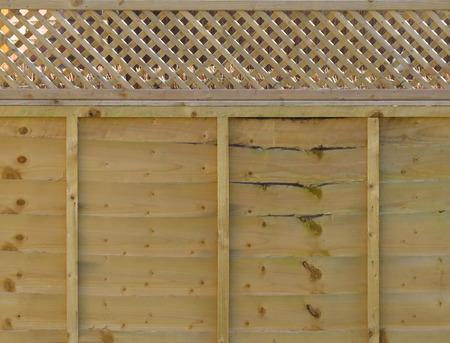 fence panel: Fence panel wood Stock Photo