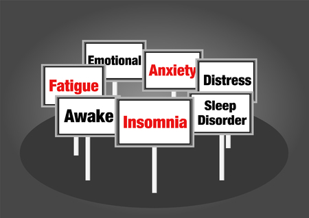 tiredness: Insomnia signs Stock Photo