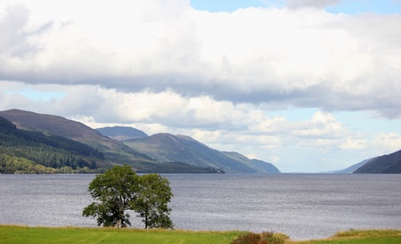 loch ness: View of Loch Ness, Inverness, Scotland